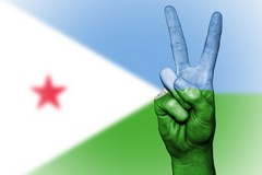 Djibouti, Peace, Hand, Nation, Background, Banner