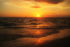 Florida, Sunset, Sea, Beach, Romance, Evening Sky